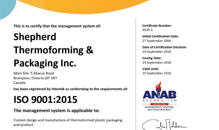 Shepherd is now certified with the new ISO 9001-2015 standard.